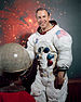 Portrait of Astronaut James A. Lovell Jr. in h...
