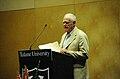 James Salter at Tulane Lecturn 2010.jpg