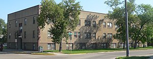 National Register of Historic Places listings in Stutsman County, North Dakota - Image: Jamestown Elizabeth Apts from SW 1
