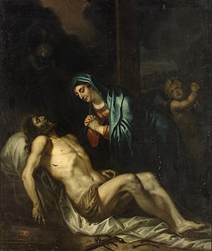 The lamentation over the dead Christ