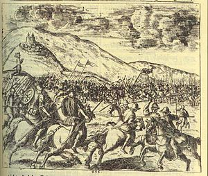 Battle of the Frigidus - Battle of the Frigidus by Johann Weikhard von Valvasor (1689)
