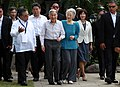 Japanese Emperor Akihito and Empress Michiko meet the representatives of the Philippine Federation of Japan Alumni.jpg