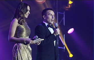 Jason Dasey - Jason Dasey in Manila hosting the AFC Annual Awards, December 2014