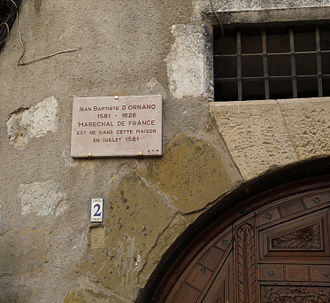 Jean-Baptiste d'Ornano - Ornano's birth house in Sisteron