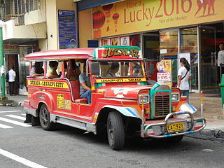 Jeepney Means of public transportation in the Philippines