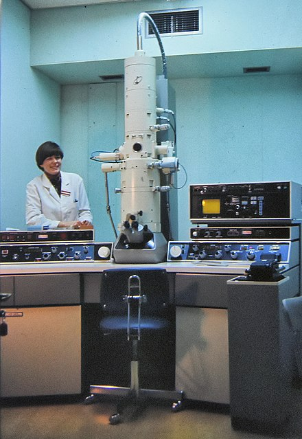 Jeol Transmission and scanning electron microscope made in the mid-1970s Jeol Transmission and scanning EM.jpg