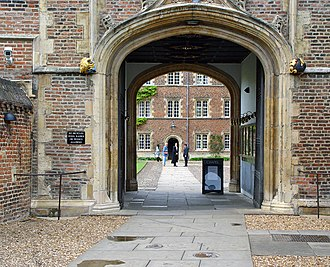Jesus College, Cambridge - The Gatehouse looking into First Court
