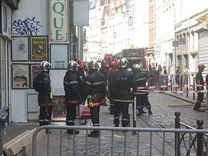 Fire services in France - French civilian firemen.