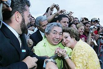 Joãosinho Trinta - Joãosinho Trinta and first-lady Marisa Letícia (2007)