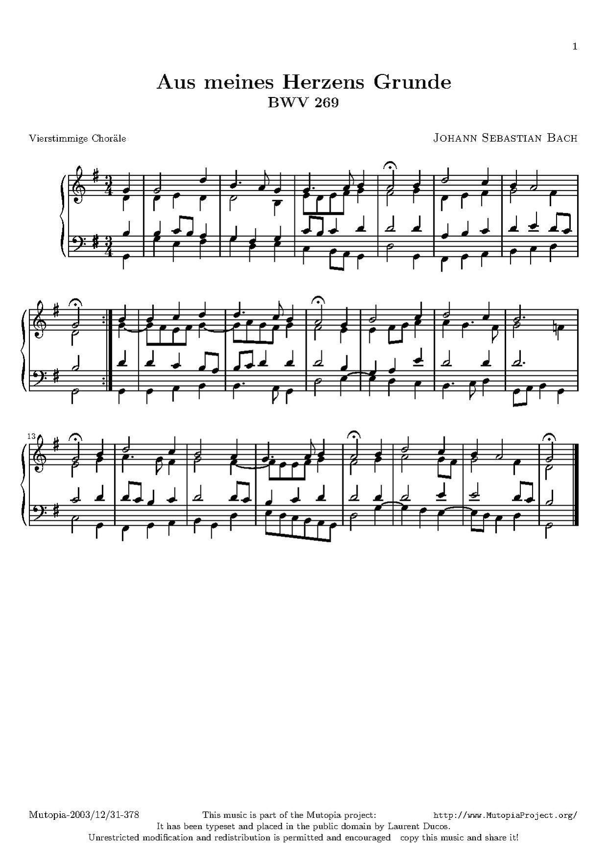 File:Johann Sebastian Bach - BWV 269 - Aus meines Herzens Grunde.pdf ...