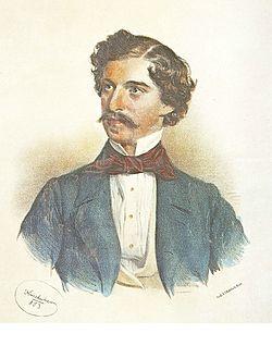 Johann Strauss den yngre, prtrætteret af Josef Kriehuber i 1853.