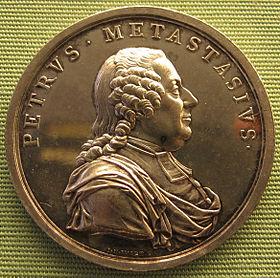 Medaille auf den Tod von Pietro Metastasio, 1782; Staatliche Münzsammlung München (Quelle: Wikimedia)