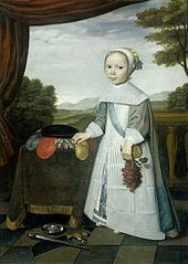 Portrait of Johannes van Rees (1662-1690/91), half-brother of Elisabeth van Oosten, as a child