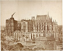 Kölner Dom im Jahr 1855, Fotograf Johannes Franciscus Michiels (Quelle: Wikimedia)