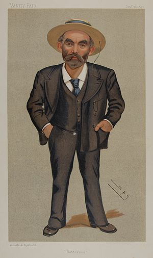 John Burns - Caricature of Burns in Vanity Fair, October 1892
