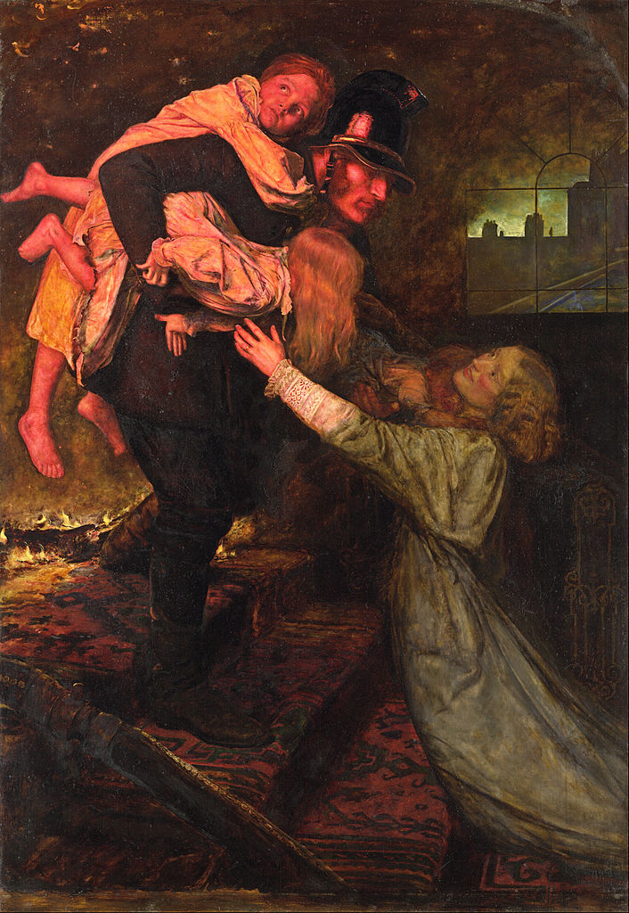 http://upload.wikimedia.org/wikipedia/commons/thumb/3/39/John_Everett_Millais_-_The_rescue_-_Google_Art_Project.jpg/706px-John_Everett_Millais_-_The_rescue_-_Google_Art_Project.jpg