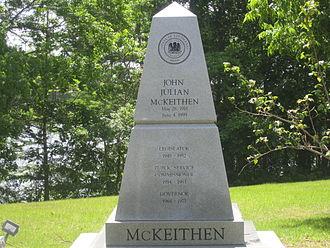 John McKeithen - John McKeithen grave monument in Caldwell Parish