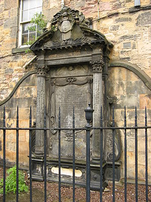 John Mylne (1611–1667) - The monument to John Mylne, erected in Greyfriar's Kirkyard by Robert Mylne
