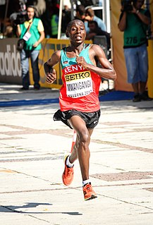 John Nzau Mwangangi Kenyan long-distance runner