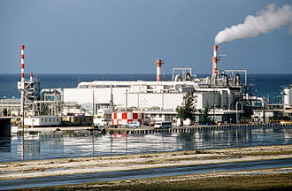 Johnston Atoll Chemical Agent Disposal System - The Johnston Atoll Chemical Agent Disposal System facility in 1990.