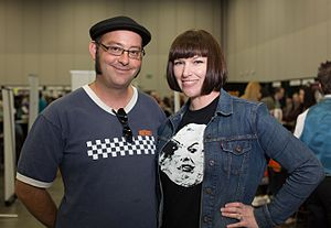 Chynna Clugston Flores - Clugston Flores with her husband at Stumptown Comics Fest 2013