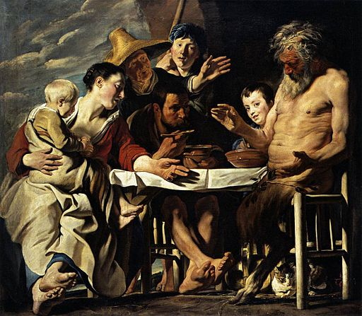 Jordaens Satyr and the peasant Kassel