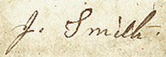 Joseph Smith III - Image: Joseph Smith III signature