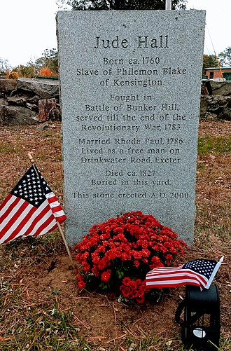 Exeter, New Hampshire - Jude Hall memorial stone
