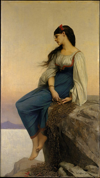 Graziella - The title character, as depicted by Jules Joseph Lefebvre (1878)