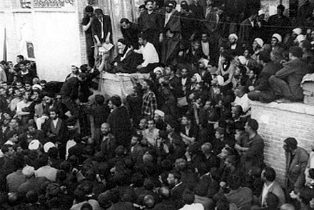 Khomeini denouncing the Shah on 'Ashura (3 June 1963) June 3, 1963 speech by Ruhollah Khomeini- Feyziyeh School, Qom (5).jpg
