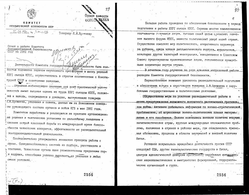 KGB Report on 1981