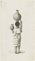 KITLV - 36B248 - Borret, Arnoldus - Woman with a jug on the head and hand - Pen and ink - Circa 1880.tif