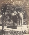KITLV 100470 - Unknown - Sculpture of an elephant in British India - Around 1870.tif