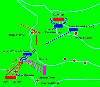 Battle of Konotop - Battle map