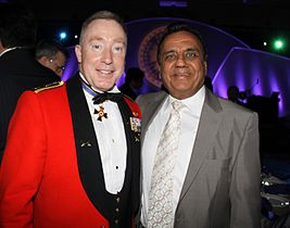 Kacee Vasudeva and Lieutenant General Peter Devlin, CMM, MSC, CD.JPG