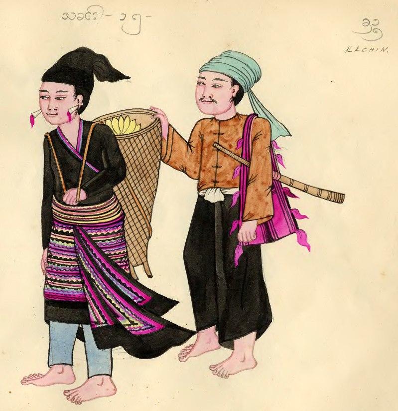 Kachin tribe depiction, 1900s
