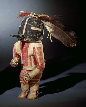 Hopi Kachina figure - Kachina Doll (Kokopol), probably late 19th century, Brooklyn Museum
