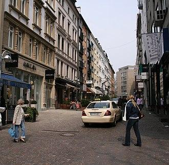 Kaiserhofstraße - Kaiserhofstraße seen from the Freßgass