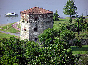 Rigas Feraios - The Nebojša Tower, where Rigas was executed.