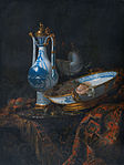 Kalf, Willem - Still-Life with an Aquamanile, Fruit, and a Nautilus Cup - c. 1660.jpg