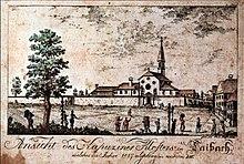 Kapucinski samostan in Ljubljana 1817.jpg