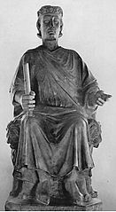 Monument to Charles I of Anjou by Arnolfo di Cambio