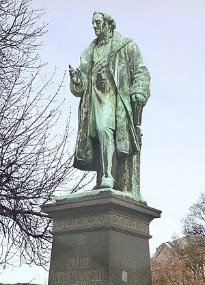 Karl Karmarsch - Bronze statue of Karmarsch in Hanover
