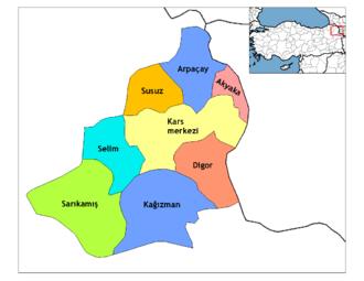 Akyaka, Kars - Districts of Kars