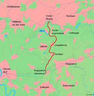 Wuppertal-Vohwinkel–Essen-Überruhr railway Railway line