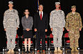 Kate Brown and Kurt Schrader pose with Oregon military.jpg