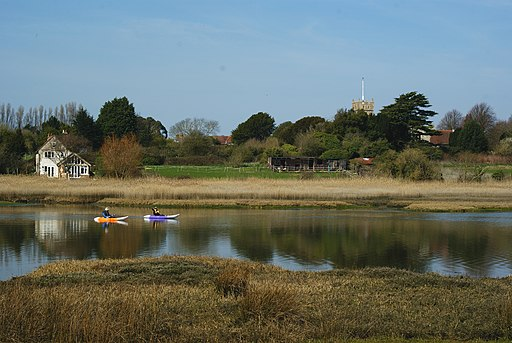 Kayaks on the River Yar, Isle of Wight - geograph.org.uk - 1805648