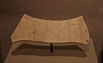 Laura Keene - The blood-stained sleeve cuff belonging to Keene on display at the National Museum of American History in Washington, D.C.