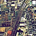 Keihan 100 years crash site aerial photograph, in 1975-01-07.jpg