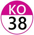 Keio KO38 station number.png